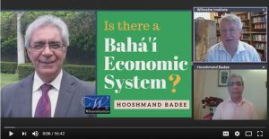 """Screenshot from web talk: """"Is there a Baha'i Economic System?"""""""