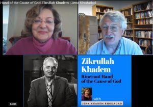 Screenshot from Jena Khadem Khodadad's recent Web Talk on Hand of the Cause of God Zikrullah Khadem