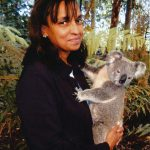 Robin Chandler with Meg the Koala