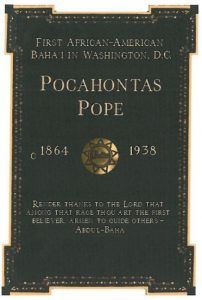 Pocahontas Pope Grave Marker