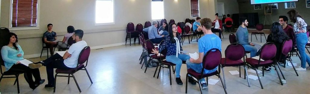 "Youth who attended ""Conscious Courtship,"" a workshop for those preparing for marriage in Edmonton, Canada"