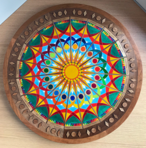 The painted side of the Badí' Calendar Teaching Puzzle