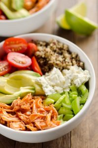 Buffalo Chicken & Quinoa Veggie Bowl