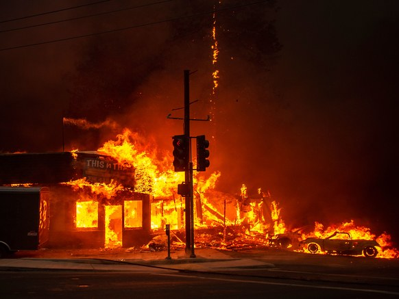 Camp Fire photo by Josh Edelson/Getty Images
