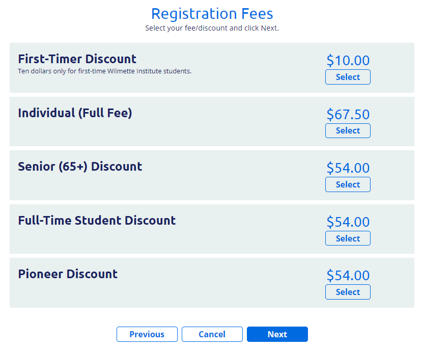 Great Start for Wilmette Institute First-Timers Discount Offer