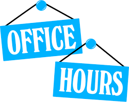 Office Hours (click image to schedule an appointment with the Registrar)