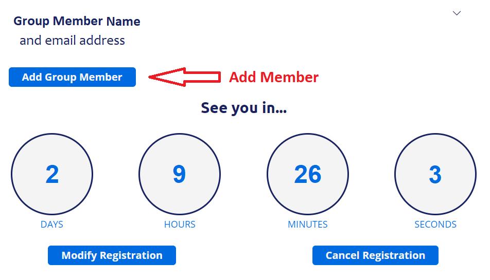 screenshot showing Add Group Member button