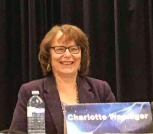 Charlotte Wenninger at the podium