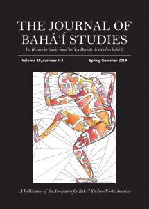 Journal of Baha'i Studies Vol. 29 cover